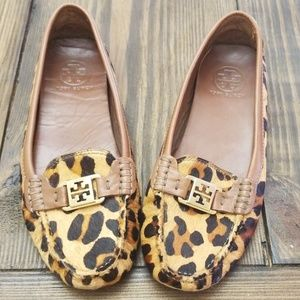 Tory Burch Kendrick Leopard Driving Loafers